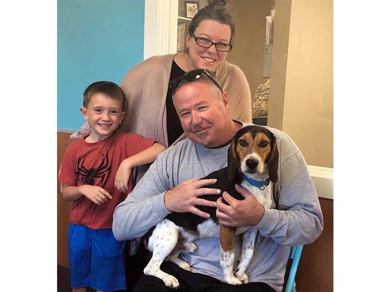 Arlo dog adopted November 2019