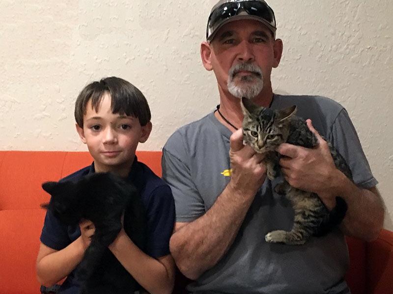 Black Magic and Filbert cats adopted November 2019