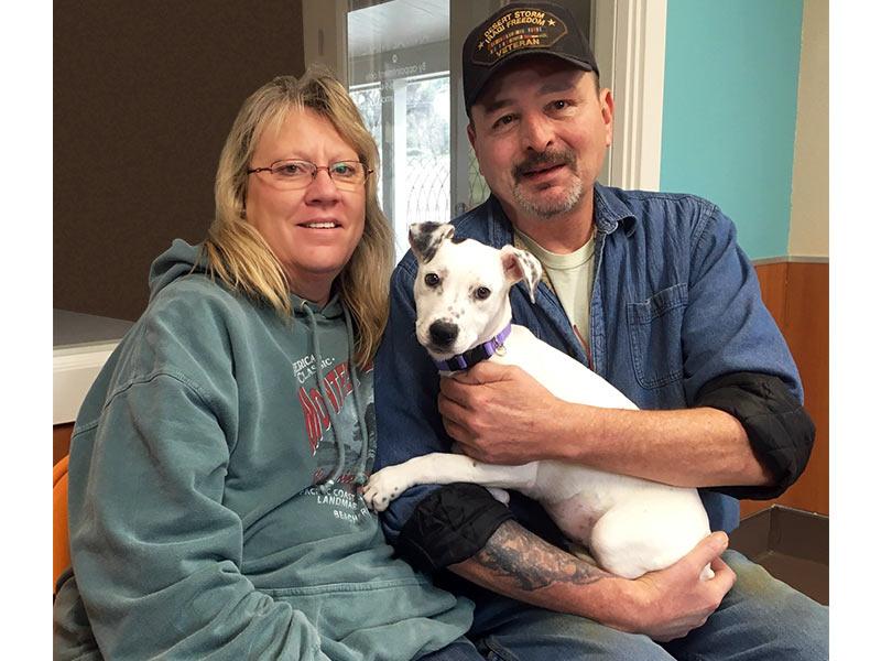 Jasmine dog adopted December 2019