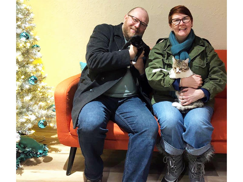Declan and Lilith cats adopted December 2019