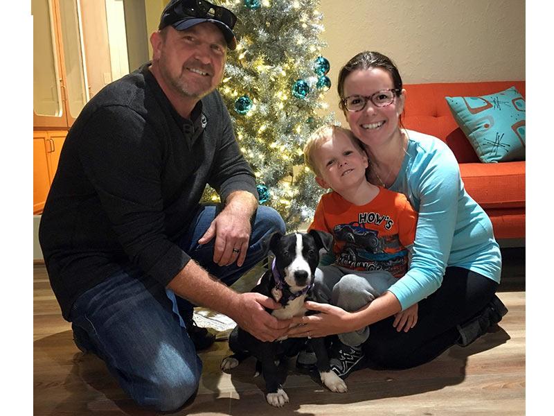 Petunia dog adopted December 2019