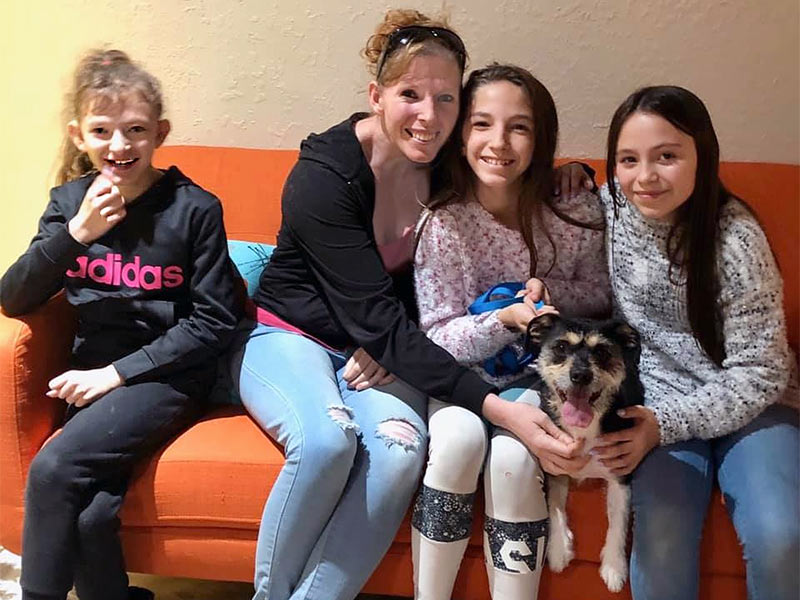Carter dog adopted December 2019