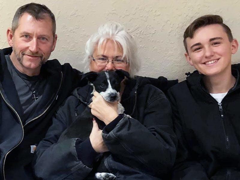 Jade dog adopted December 2019