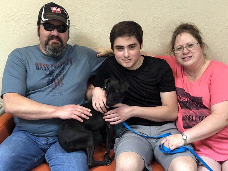 Leo dog adopted September 2019