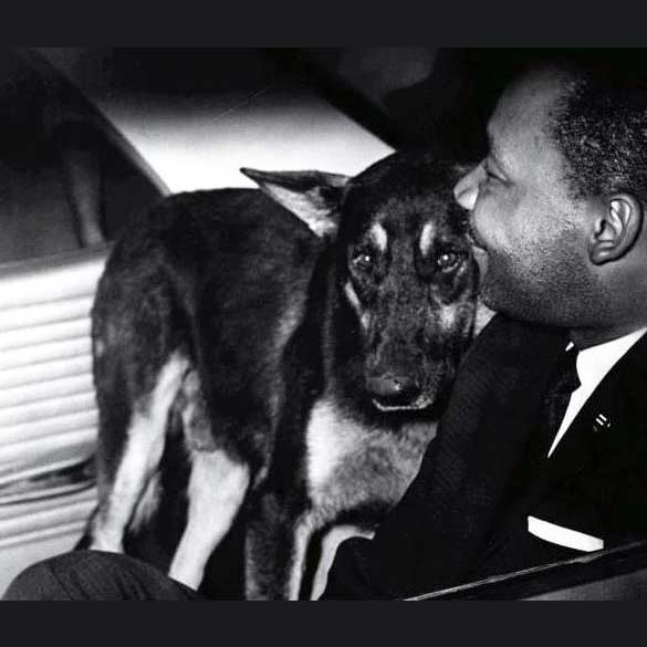 Martin Luther King Jr. with police dog