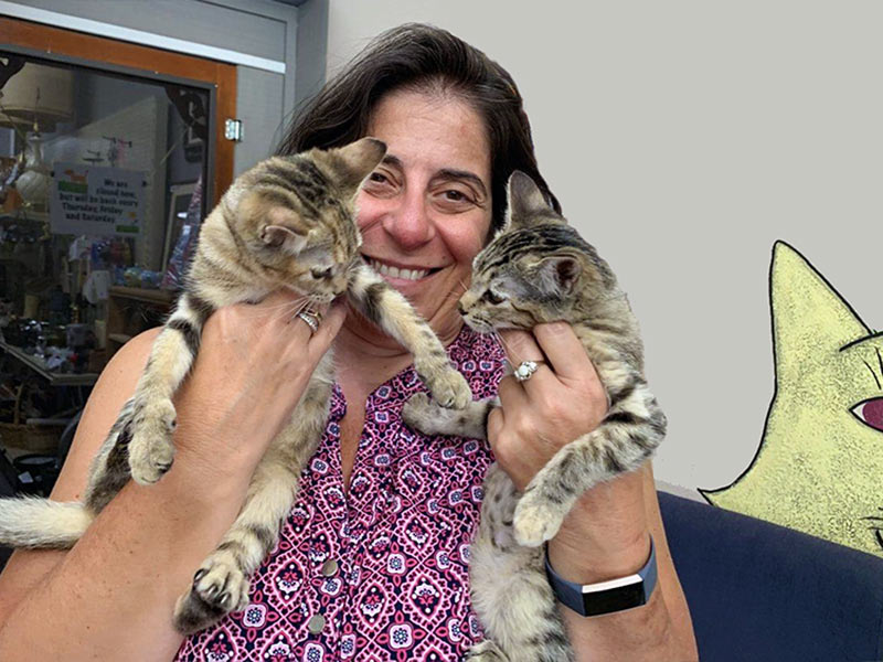 Maybelle and June cats adopted August 2019