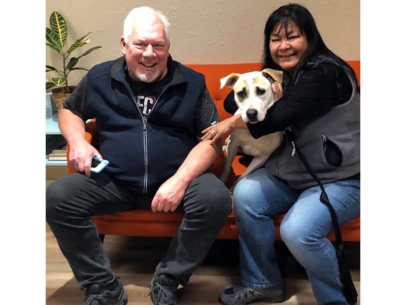 Lola dog adopted February 2020