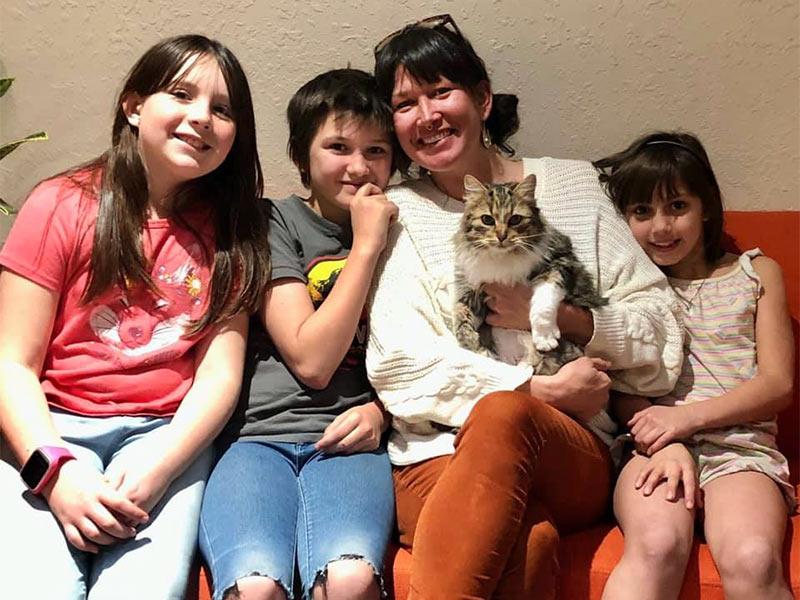 Mazie cat adopted February 2020