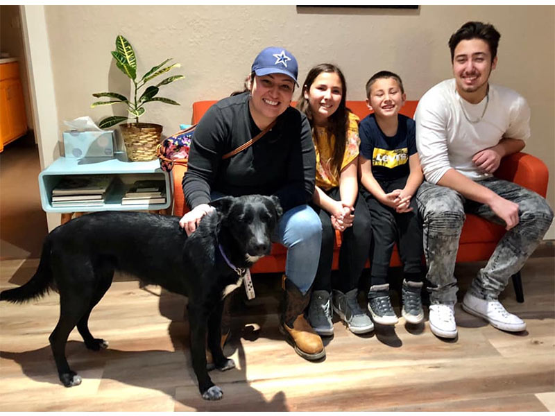 Meg dog adopted February 2020
