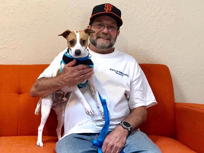 Freddie dog adopted October 2019