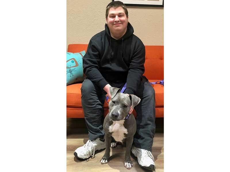 Sparkle dog adopted February 2020