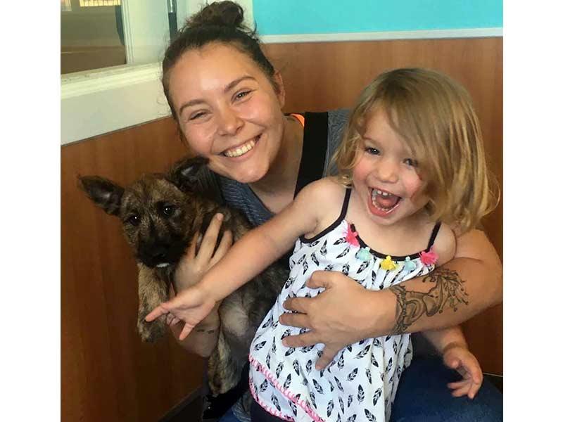 Winnie dog adopted July 2020