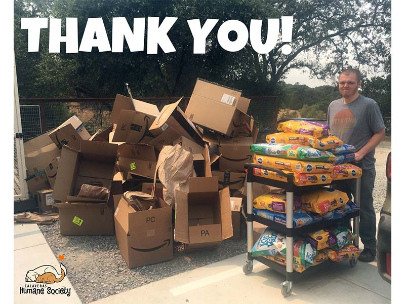 Thank you, Pet Food Bank donors