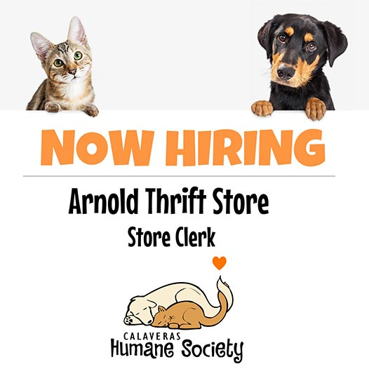 Now hiring at Arnold Thrift Store