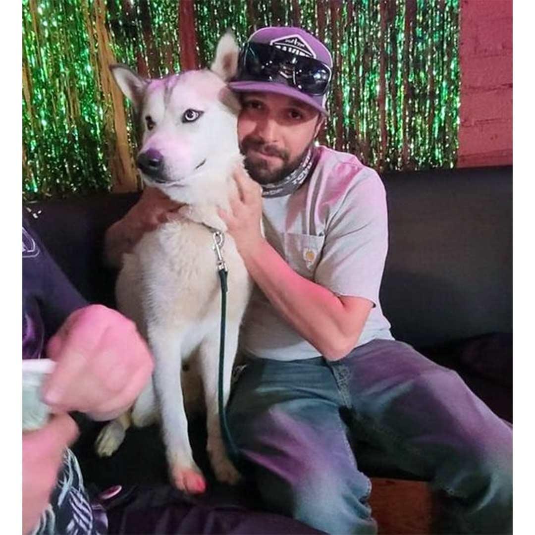 Smokey dog at home April 2021