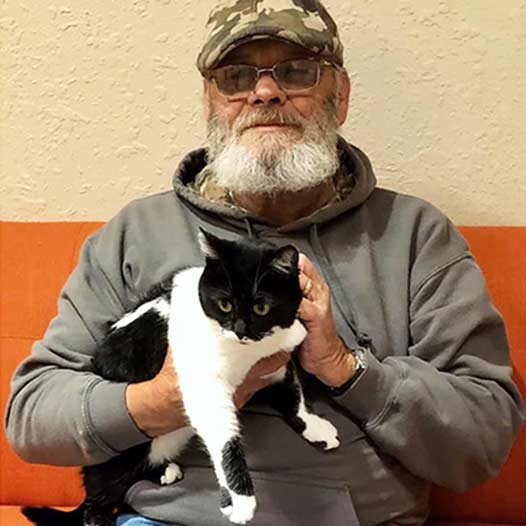 Beatrice cat adopted January 10 2020 through our Free Pets for Vets program