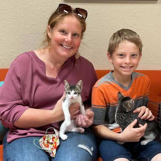 Charlie and Le Chat cats adopted May 28 2021