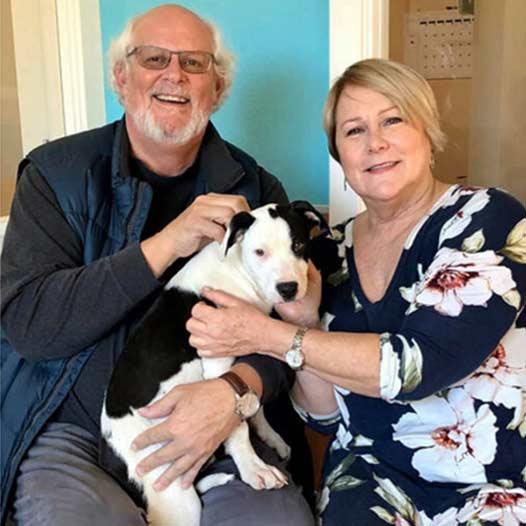 Columbo dog adopted January 5 2020