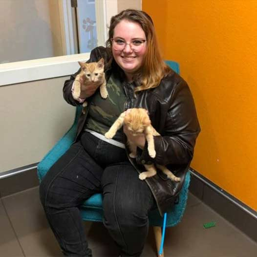 Dasher and Donner cats adopted January 7 2021
