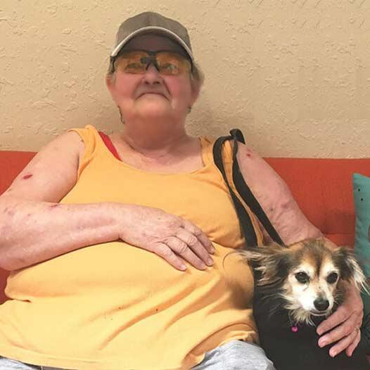 Emma dog adopted July 20 2019 through the Seniors for Seniors Program