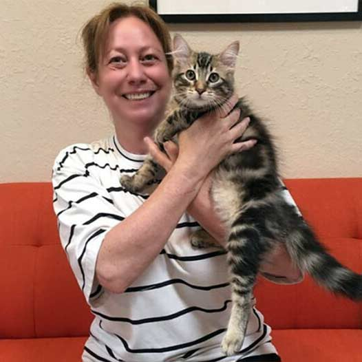 Louie cat adopted July 10 2019
