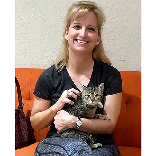Lucinda cat adopted January 19 2020