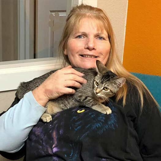 Mercedes cat adopted January 4 2020