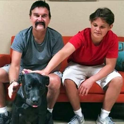 Nero dog adopted July 26 2019