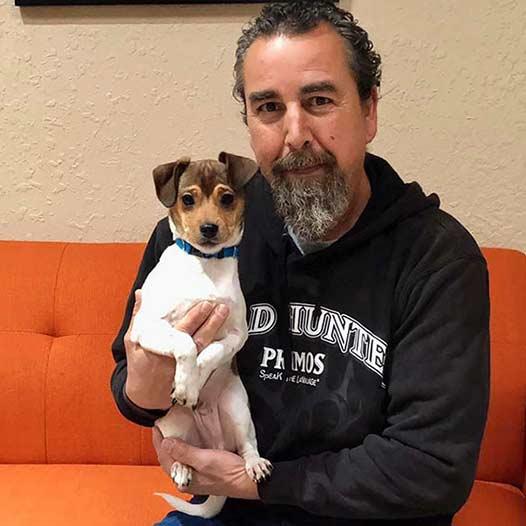 Popcorn dog adopted January 19 2020