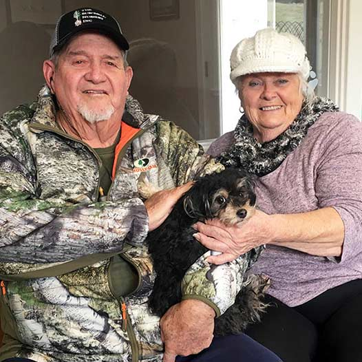 Socrates dog adopted January 9 2020 through our Free Pets for Vets program