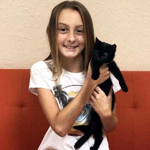 Zeda cat adopted July 21 2019